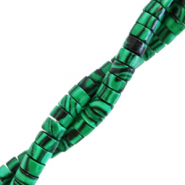 Natural stone beads disc 4mm Marble Eden Green