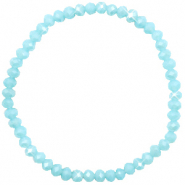 Top faceted bracelets 4x3mm Crystal Blue-Pearl Shine Coating