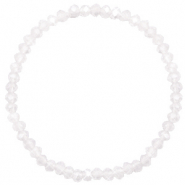 Top faceted bracelets 4x3mm White-Pearl Shine Coating