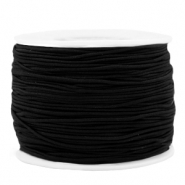 Coloured elastic cord 1.2mm Black