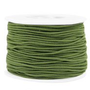 Coloured elastic cord 1.5mm Olive Green