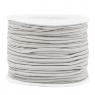 Coloured elastic cord 2mm Light Grey