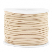 Coloured elastic cord 2mm Beige
