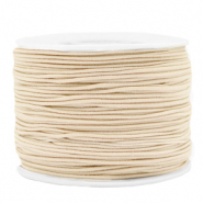 Coloured elastic cord 1.2mm Beige