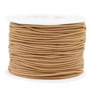 Coloured elastic cord 1.5mm Camel Brown