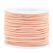 Coloured elastic cord 2mm Peach Blush Pink