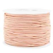 Coloured elastic cord 1.5mm Peach Blush Pink