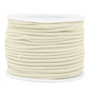 Coloured elastic cord 2mm Off White