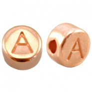 DQ metal letterbead A Rose gold (nickel free)
