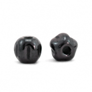 Hematite beads pentagon Anthracite Grey