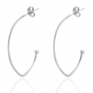 Stainless steel earrings Silver