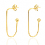 Stainless steel earrings Gold