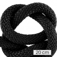 Maritime cord 10mm (4x20cm) Black