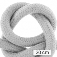 Maritime cord 10mm (4x20cm) Cool Grey