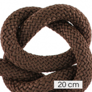 Maritime cord 10mm (4x20cm) Dark Brown