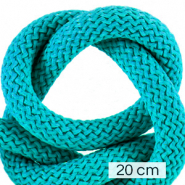 Maritime cord 10mm (4x20cm) Ceramic Blue