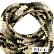 Maritime cord 10mm (4x20cm) Multicolour Army