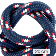 Maritime cord 10mm (4x20cm) Multicolour Red White Blue