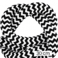 Maritime cord 10mm (3x30cm) White-Black