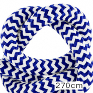 Maritime cord 10mm (270cm) White-Princess Blue
