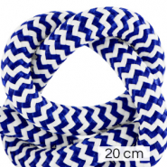 Maritime cord 10mm (4x20cm) White-Princess Blue