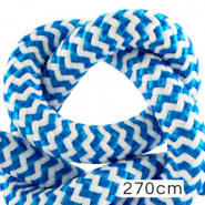 Maritime cord 10mm (270cm) White-Capri Blue