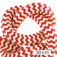 Maritime cord 10mm (3x30cm) White-Red