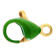 Stainless steel findings lobster clasp 10mm Ultramarine Green-Gold
