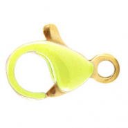 Stainless steel findings lobster clasp 10mm Green Sheen-Gold