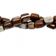 Shell beads tube Brown