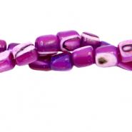 Shell beads tube Orchid Purple