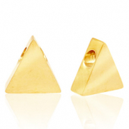 Stainless steel beads triangle Gold