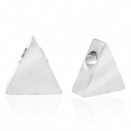 Stainless steel beads triangle Silver