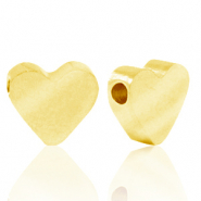 Stainless steel beads heart Gold