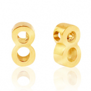 Stainless steel beads number 8 Gold