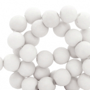 8 mm acrylic beads Nimbus Cloud Grey