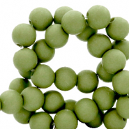8 mm acrylic beads Green Olive