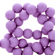 8 mm acrylic beads Paisley Purple