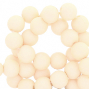 8 mm acrylic beads Papyrus White Beige
