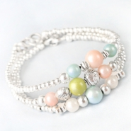 NEW New: Glass beads Pearl Glitter in trendy summer colours
