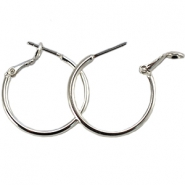 DQ creole earrings 20mm Silver plated