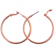 DQ creole earrings 40mm Rose gold plated