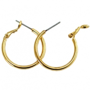 DQ creole earrings 25mm Gold plated
