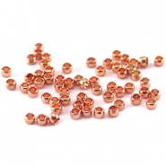 DQ crimp beads 2mm Rose gold plated