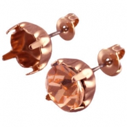 DQ earpins for SS29 chaton Rose gold plated