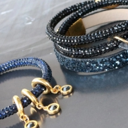 NEW New! Faux suede with strass and faux leather with glitters