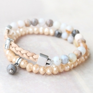 Inspirational Sets Natural jewellery with natural stone beads and semi-precious stone beads!