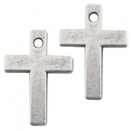 DQ charms cross Antique silver (nickel free)