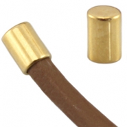DQ metal end cap tube shaped for 5 mm wire Gold (nickel free)