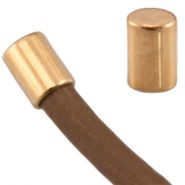 DQ metal end cap tube shaped for 5 mm wire Rose gold (nickel free)
